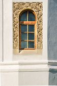 foto of woodcarving  - Woodcarved frame window - JPG