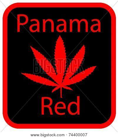 Panama Red marijuana leaf