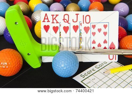 Poker Cards And Mini Golf