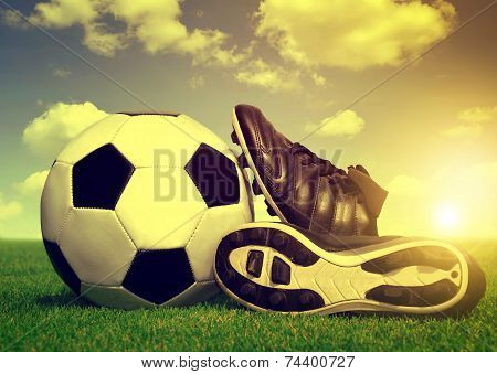 Vintage soccer background