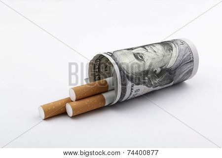 Cigarettes Smoking Concept.