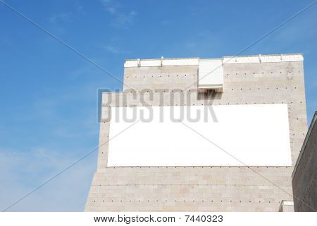 Blank Billboard On A Modern Building
