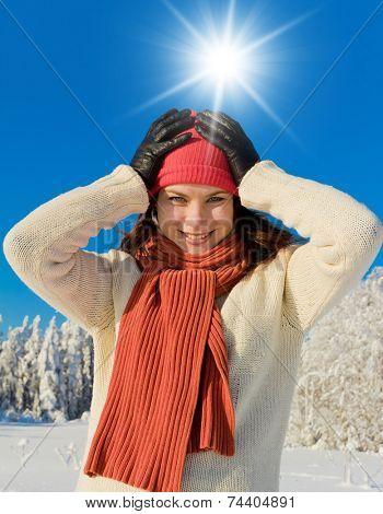 Midwinter Sunshine Frosty Scene