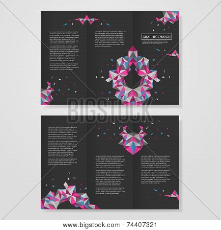 Geometric Colorful Triangles Design For Tri-fold