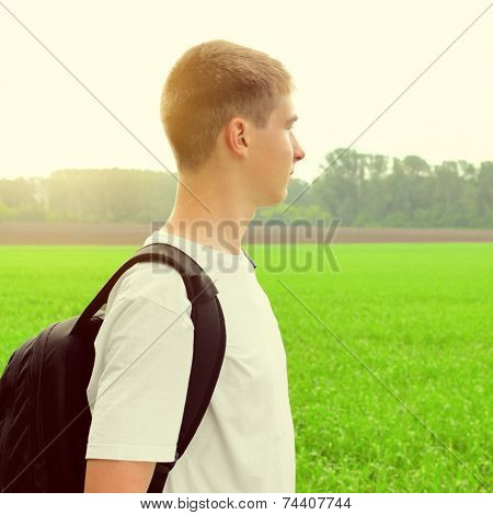 Teenager At The Field