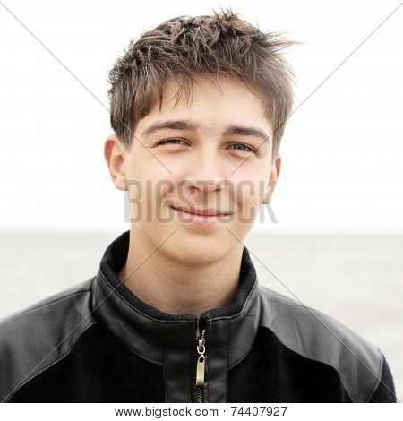 Teenager At Seaside