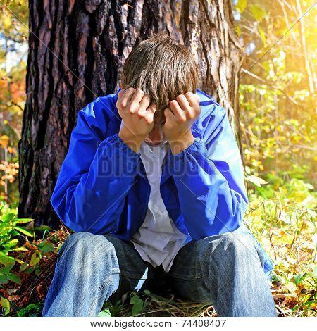 Sorrowful Teenager Outdoor