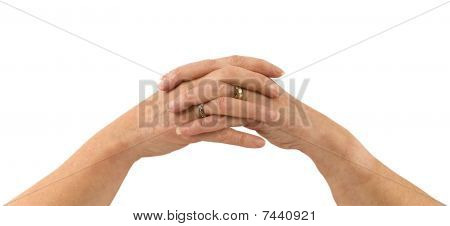 praying female hands