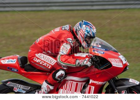 Nicky Hayden at the Shell Malaysian Motogp