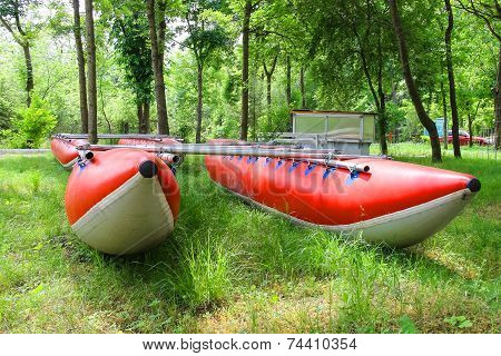 Catamarans For Rafting In The Park Training Camp