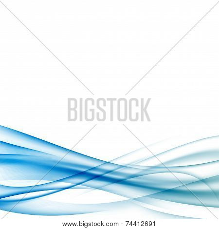 Blue Wave Certificate Border Background