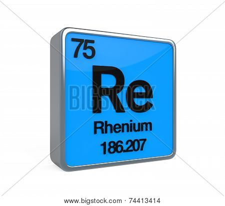 Rhenium Element Periodic Table