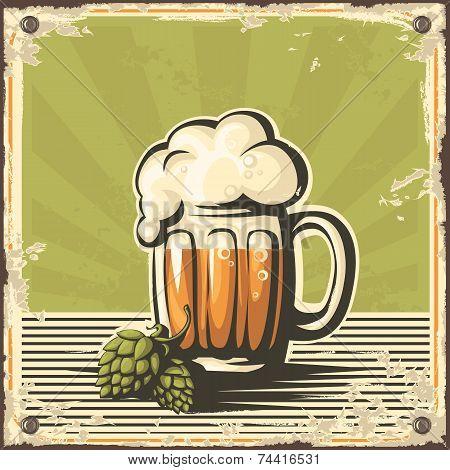 Retro Beer Poster.