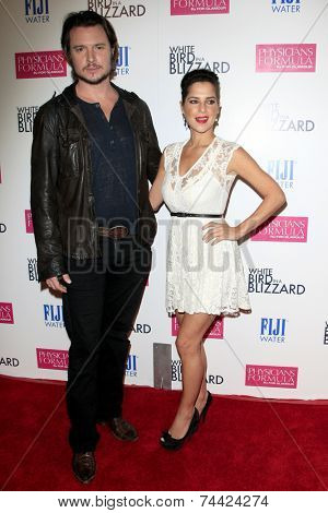 LOS ANGELES - OCT 21:  Heath Freeman, Kelly Monaco at the