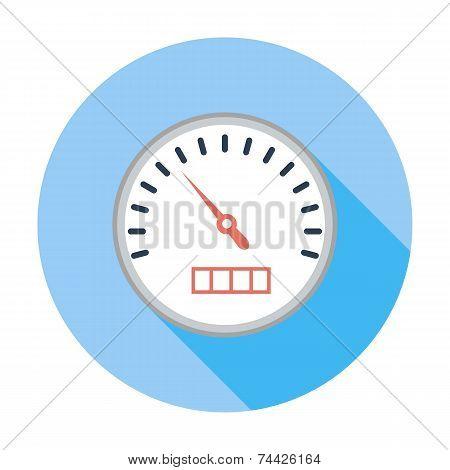 Speedometer flat icon.