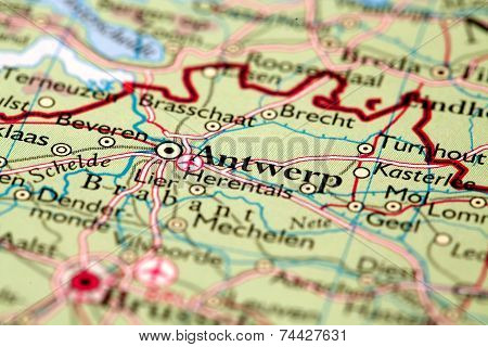 Antwerp City On Map