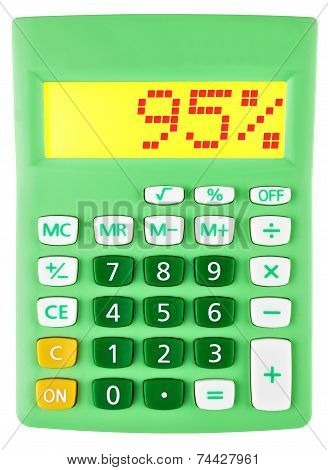 Calculator With 95 On Display On White
