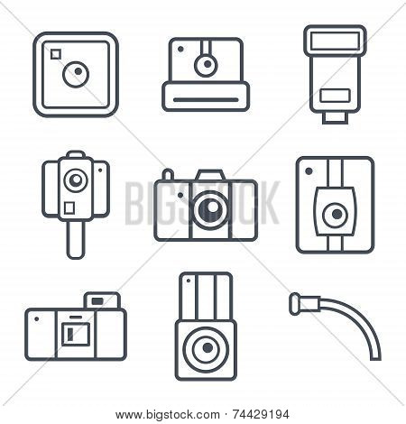 Icons Retro Photo Camera