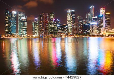 Night Downtown Singapore
