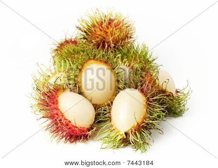 Exotic Thai Fruit Rambutan Or Ngo