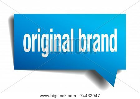 Original Brand Blue 3D Realistic Paper Speech Bubble
