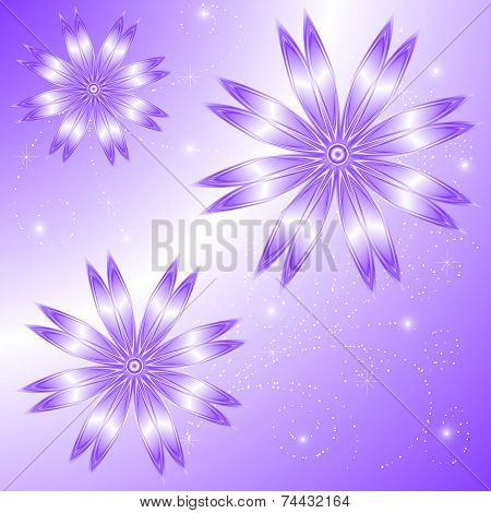 Vector Background Lilac Charm