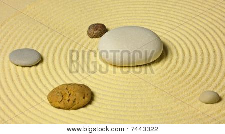 Scheme Of Solar System From Stones On Sand