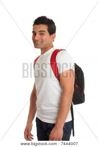 Ethnic Male Student Smiling