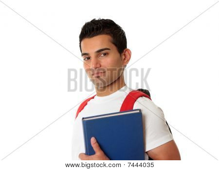 Student Wearing A Backpack