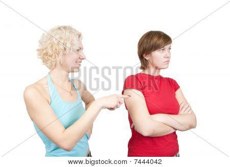Young Women In Quarrel