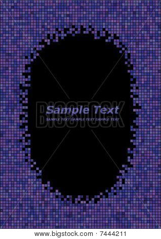 purple background with frame