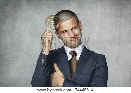 Businessman With An Idea For Saving