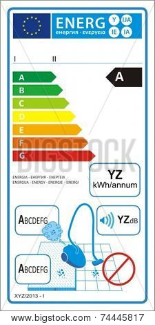 Vacuum cleaners for carpet new energy rating graph label