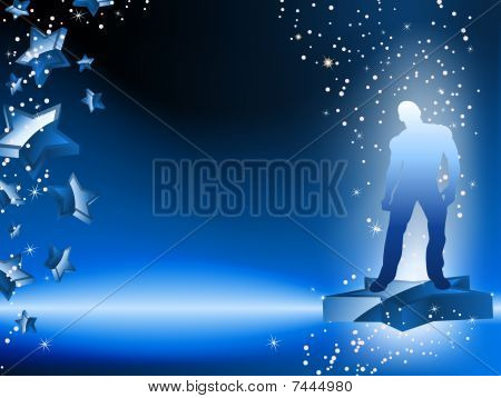 Boy Dancing on Star Blue Flyer.