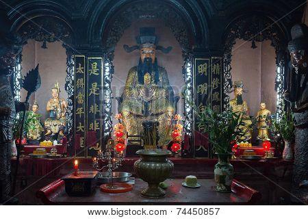 Buddha statue Emperor Jade Pagoda, Saigon, Vietnam