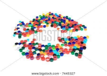 Platic Caps As Recycle Symbol