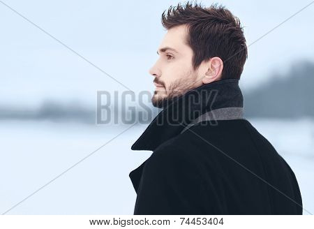 Handsome Stylish Man Outdoor Portrait