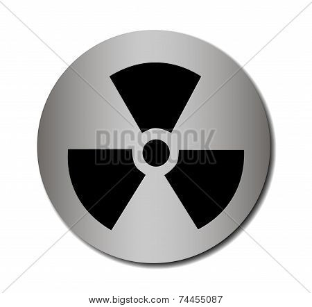 Vector nuclear sign or icon