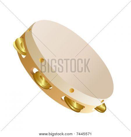 Music instruments tambourine