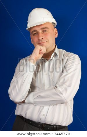 Construction Worker In White