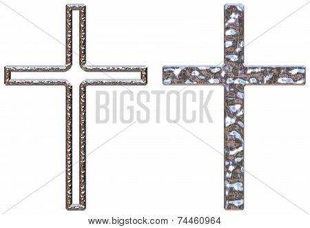 Chrome Crucifixes