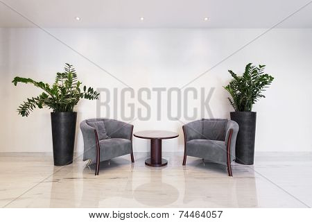 Coffee Table With Armchairs