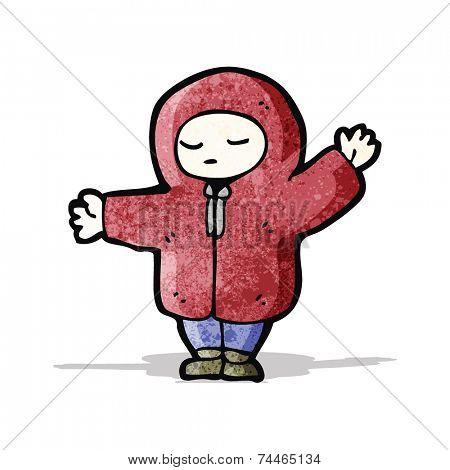 cartoon boy in winter coat