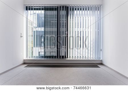 Enormous Window In Empty Office