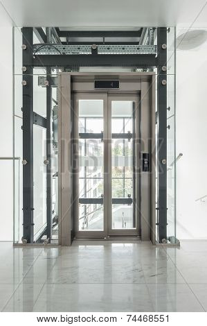 View Of Glass Elevator
