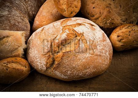 Close-up Of Traditional Bread