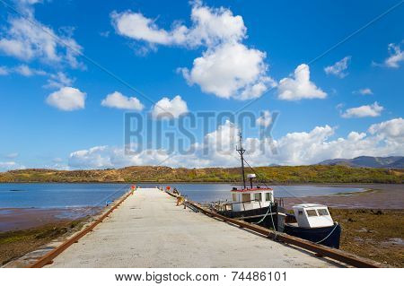 Pier With Moored Boats