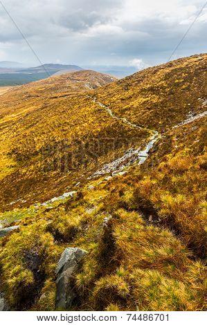 Hiking Trail Through Connemara National Park