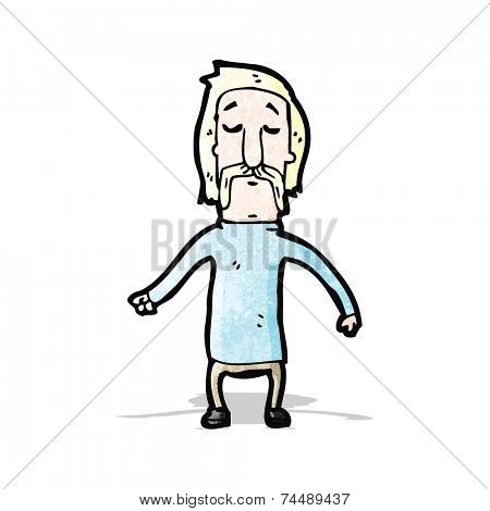 cartoon blond man with handlebar mustache