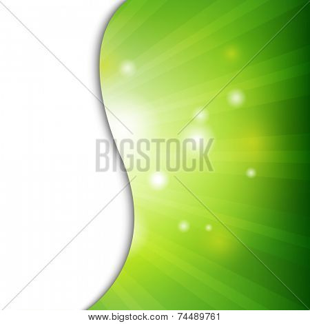 Green Wall With Bokeh With Gradient Mesh, Vector Illustration